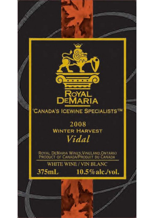 Winter Harvest Vidal 2008 (375mL)